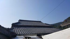 和風屋根の施工後